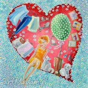 teraz już jestem w twoim sercu na zawsze, 4mara, marina, czajkowska, obraz, płótno