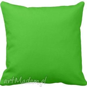 poduszka ozdobna dekoracyjna zielona gładka 6574, jednokolorowa, poduszki