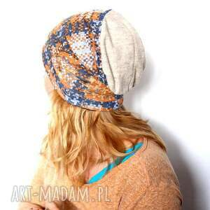 czapka damska dresowa handmade, damska, dresowa, prezent, rekonwalescencja