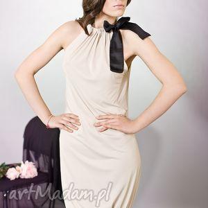 sukienka bombka z kokardą, kokardka, bombka, kobieca, wyjątkowa ubrania