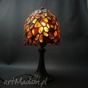 lampy prezent luksusowy bursztyn świecący lampa hand made, bursztyn, bursztynowa