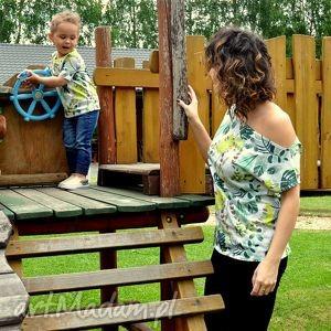 ubranka komplet koszulek liście, koszulki, komplet, mamaisyn, mamaicórka