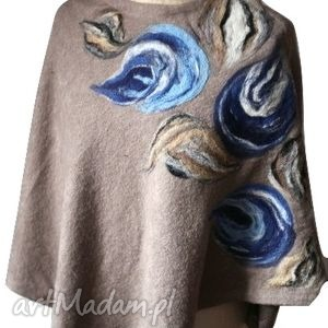ruda klara poncho tunika i płaszcz magicznego ogrodnika , wełna ubrania