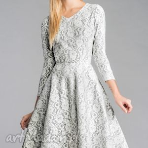 sukienki sukienka fler midi noemi, sukienka, koło, midi, koronka, mięciutka