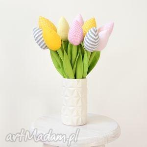 Bawełniane tulipany, tulipan, bawełniane, materiałowe, bukiet, kwiaty