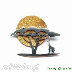 afryka dzika- wisiorek srebrny, srebro, wisior, afryka, wakacje, naszyjnik, słońce