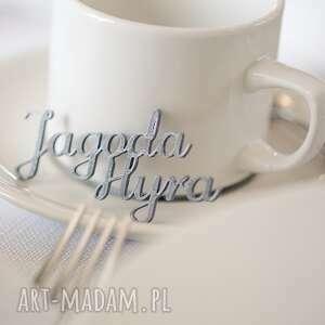 winietki na stół drukowane 3d trwałe napisy, winietki, wesele, bileciki, dekoracja