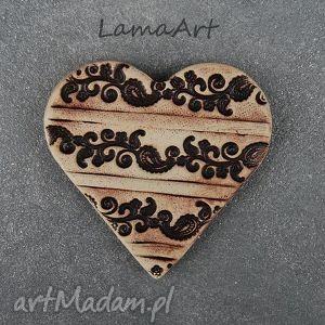 lamaart ceramiczny walentynkowy magnes , magnes, ceramiczny, walentynki dom