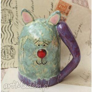 kot z odstającym ogonkiem, kot, ceramika ceramika