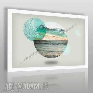 obraz na płótnie - koła morze 120x80 cm 37101 , morze, pejzaż, krajobraz