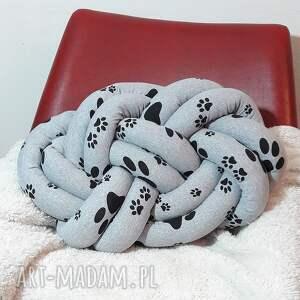 poduszka dekoracyjna supeł knot pillow puppy, prezent, handmade, supeł, węzeł