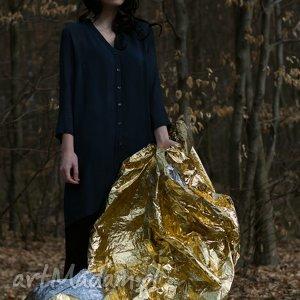 koszula granatowa lunga v striature, koszula, sukienka, wiosna, lato, przewiewna