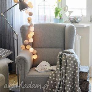 Cotton Ball Lights by Pretty Pleasure , pokój, dziecka, girlandy, lampki, kule