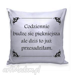 srebrna poduszka z kolekcji królewskiej, poduszka, srebro, ornamenty, codziennie