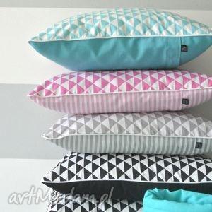 poszewka na poduszkę trójkaty scandi - kolory, poduszka, poszewka, trójkąty