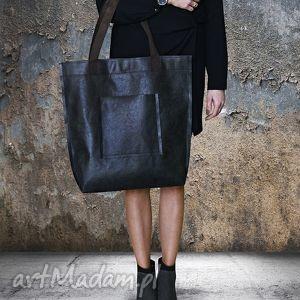 monkey machine torba mr m vintage czarna skóra naturalna, torba, vintage, miejska