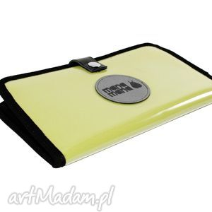 Portfel Mana #2, żółty, folia, portfel, handmade