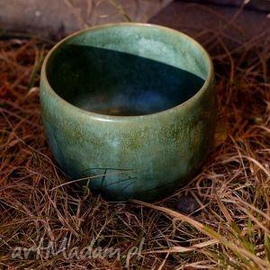 miska zielona, ceramika, miska, glina, szkliwo dom