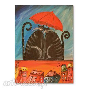 świąteczne prezenty, koty under my umbrella, kot, koty, obraz, dziecko, dzieciecy