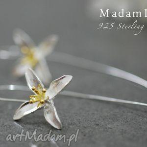 kolczyki 925 srebrne lilia , lilie, kwiaty, kolczyki, srebro, elegancja