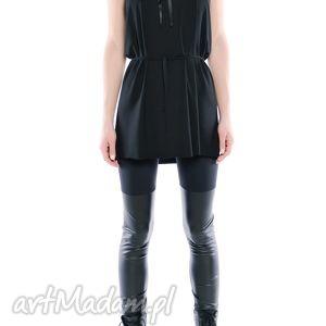 legginsy - dwie czernie, czarne, elasyczne, wygodne ubrania