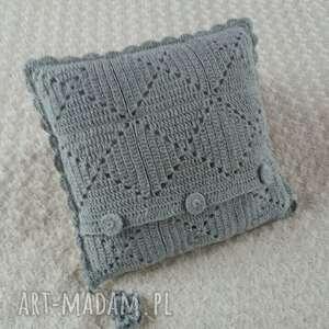 Poduszka wykonana ręcznie WEŁNA 45x45 cm 1szt, handmade, wełna, poduszki, poduszka