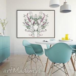 kwiaty naszych łąk łubin - 30x40 cm , plakat, łubin, kwiaty, obraz, folk dom