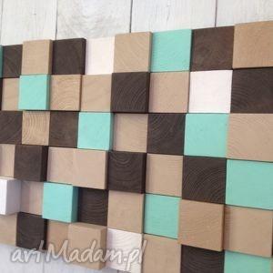 Mozaika drewniana - NA ZAMÓWIENIE, obraz, mozaika, płaskorzeźba, ściana, drewno