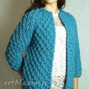 pod choinkę prezent, navy-blue chunky, sweter, gruby, druty ubrania