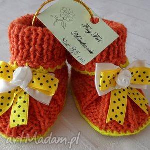 buciki niemowlęce z kokardą, buciki, kapciuszki, dziecięce dla dziecka