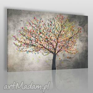 handmade obrazy obraz na płótnie - drzewo liście - 120x80 cm (30601)