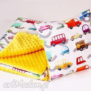 lilifranko zestaw przedszkolaka autka żółte, kocyk, poduszka, zestaw