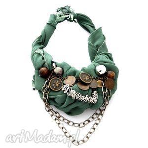 khaki naszyjnik handmade - naszyjnik, handmade, zielony, khaki, militarny