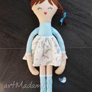 Ogromna lalka 75 centymetrów, niebieska księżniczka, laleczka szmacianka.,