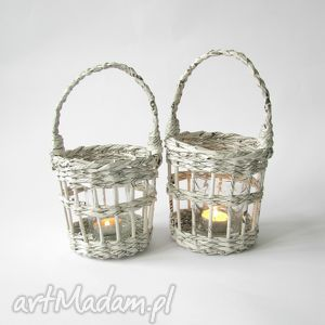świeczniki zestaw dwóch lampionów, lampion dom