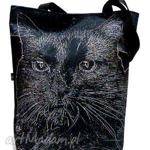 torba na napę z kotem, torba, kot, pojemna ramię torebki, pod choinkę prezent