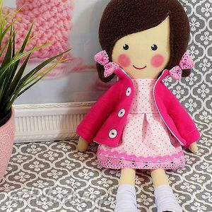 dollsgallery malowana lala lilia, lalka, zabawka, przytulanka, prezent, niespodzianka