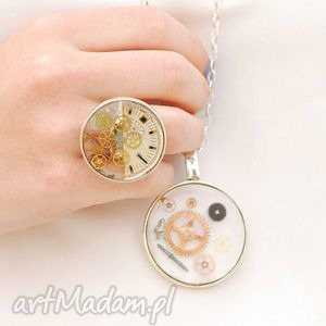 the copper charm - srebrny nasyzjnik z elementami zegarka, lucreative watch me - vintage