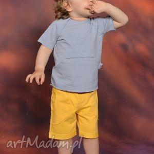 ubranka letnia bluzeczka z kieszonką kangurką szara, bawełna, handmade, kieszeń