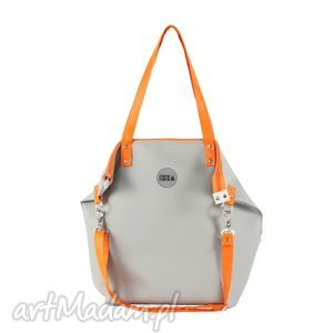 torba worek waterproof orange grey, worek, szary, popiel, prezent, handmade