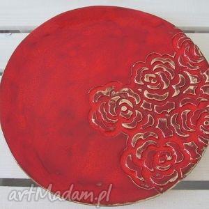 ceramika różana patera, ceramiczna, talerz, ceramiczny dom