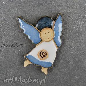 ceramiczny magnes aniołek , magnes, ceramiczny, aniołek
