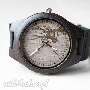 Zegarek z hebanu BLACK DEER, zegarek, drewniany, jeleń, deer, hebanowy