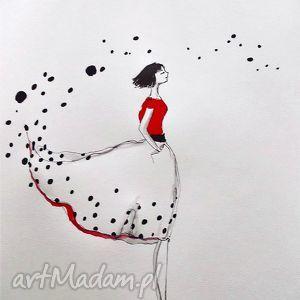 Grafika, rysunek akwarele i piórko Wybieram przyszłość , grafika, rysunek, kobieta