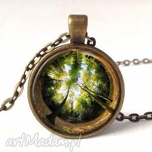 las - medalion z łańcuszkiem - las, drzewa, drzewo, medalion, naszyjnik, prezent