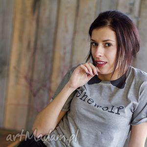 koszulki shewolf koszulka z krótkim rękawem, tshirt, unisex, vintage, wilk, wolf, fun