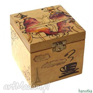 cafe parisienne - pudełko, szkatułka, prezent, paryż, paryskie