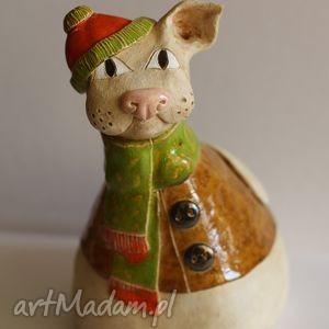 kot zimowy, kot, ceramika dom