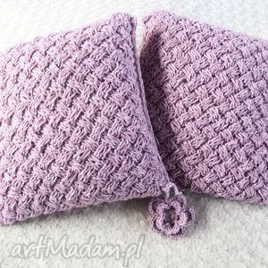 poduszki robione ręcznie wełna 40x40 cm 2szt, poduszki, poduszka