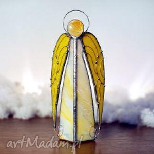 anioł uriel, dekoracje, lampion, rękodzielo, witraż, anioły, prezent, unikalny